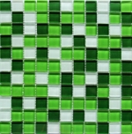 Мозаика  (м2) Polcolorit Crystal White Green 30x30x0,4