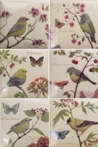 Декор Amadis Fine Tiles Bird Decors 15*15 из 6 pz.