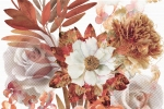 Декор-панно Absolut Keramika Composicion Savage Flowers Marron 01 30*45 (из 2-х шт.)